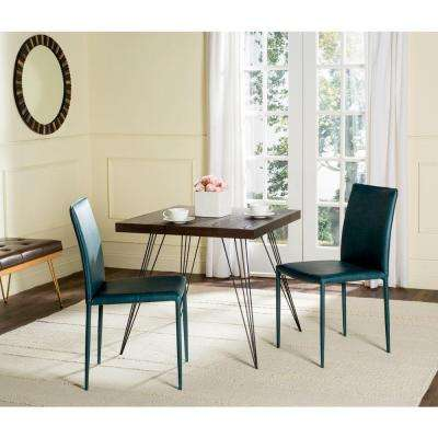 Karna Bonded Leather Dining Chair in Antique Teal (2-Pack)