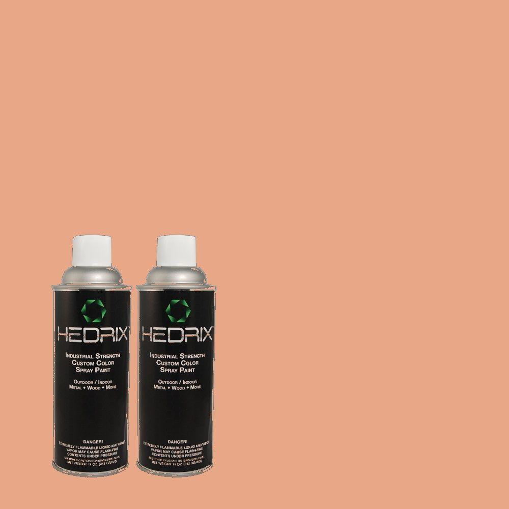 Hedrix 11 oz. Match of BHG-39 Skinned Knee Gloss Custom Spray Paint (2-Pack)