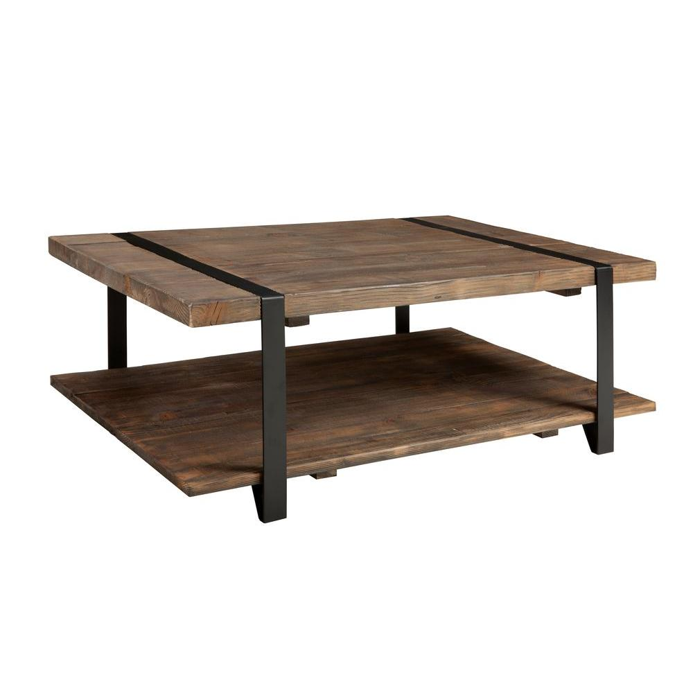 Alaterre Furniture Modesto Rustic Natural Storage Coffee Table Amsa1220 The Home Depot