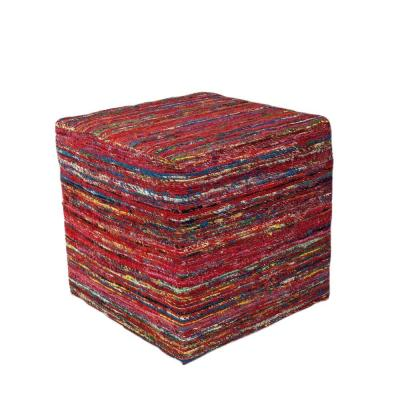 Contempo Red Accent Pouf