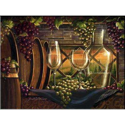 Evening in Tuscany 17 in. x 12-3/4 in. Ceramic Mural Wall Tile