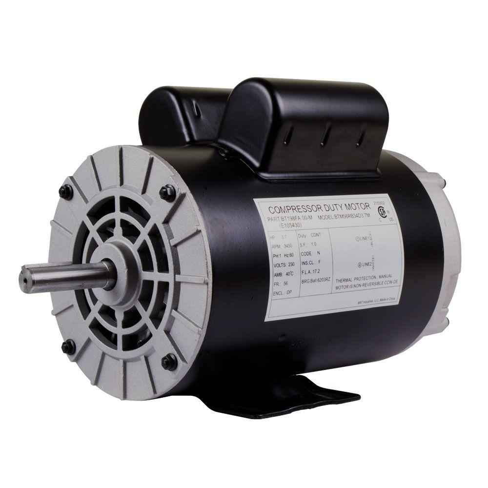 Replacement 230-Volt Motor for Husky Air Compressor ...