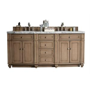 James Martin Signature Vanities Bristol 72 inch W Double Vanity in Whitewashed Walnut with Marble Vanity Top in Carrara... by James Martin Signature Vanities