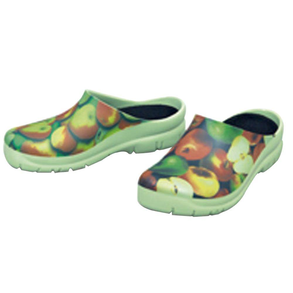 Women's Apples Picture Clogs - Size 7