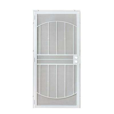 32 in. x 80 in. 805 Series White Defender Security Door