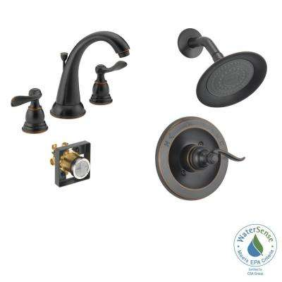 Windemere 8 in. Widespread 2-Handle Bathroom Faucet with Shower Trim and Rough-In in Oil Rubbed Bronze