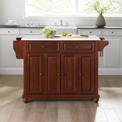 Cambridge Mahogany Full Size Kitchen Island/Cart with Granite Top