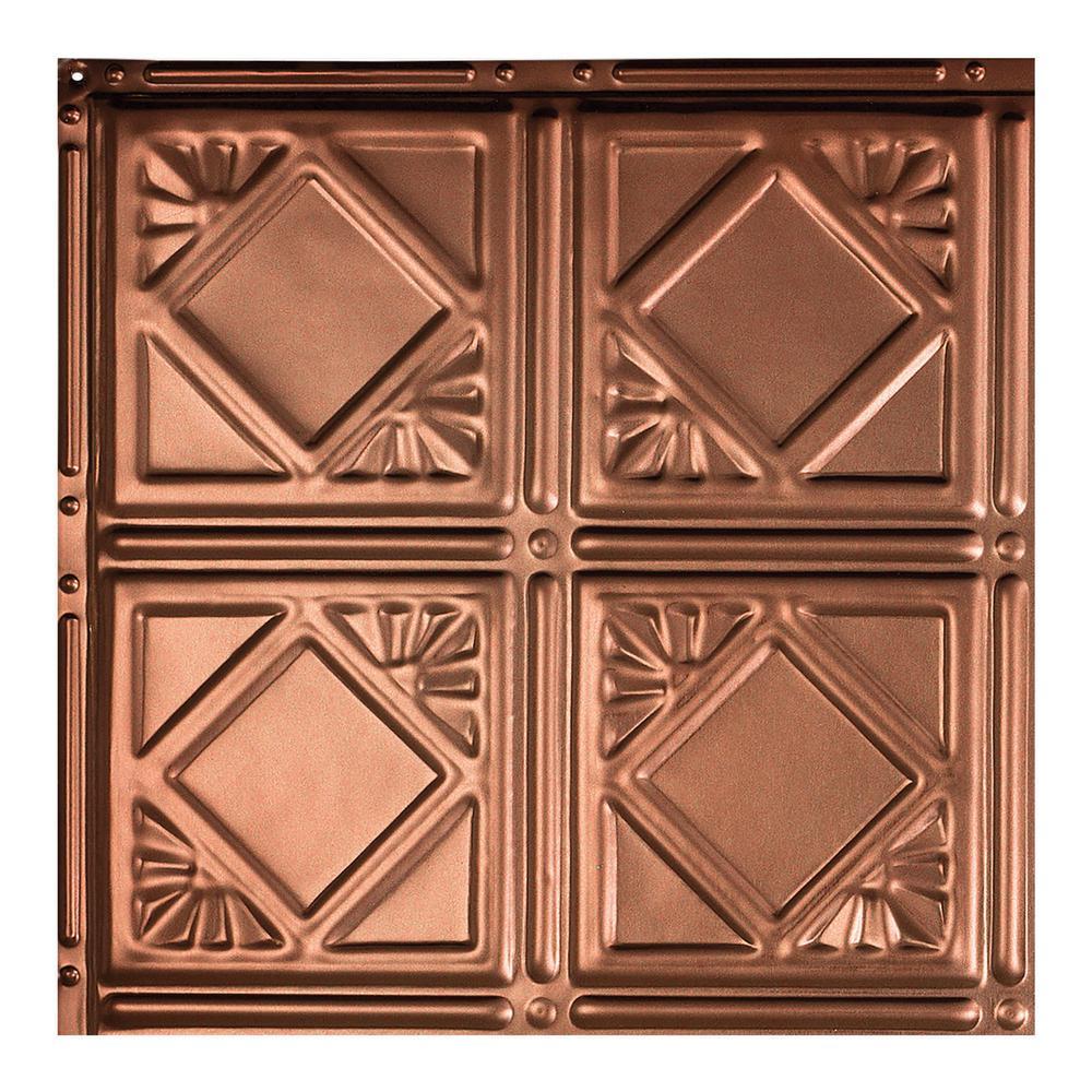 Ludington Vintage Bronze 12 in. x 12 in. Nail-Up Ceiling Tile Sample