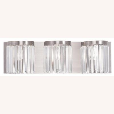Ashton 3-Light Brushed Nickel Bath Light