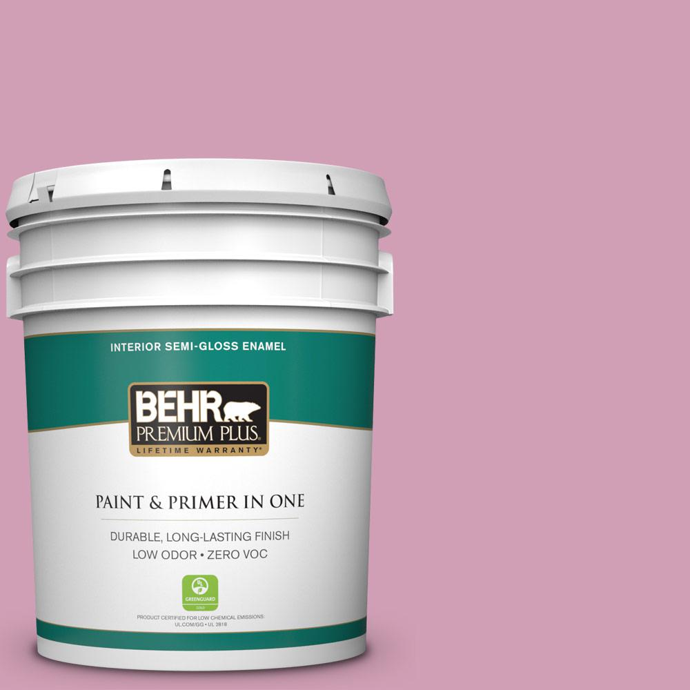 5-gal. #M130-4 Raspberry Smoothie Semi-Gloss Enamel Interior Paint
