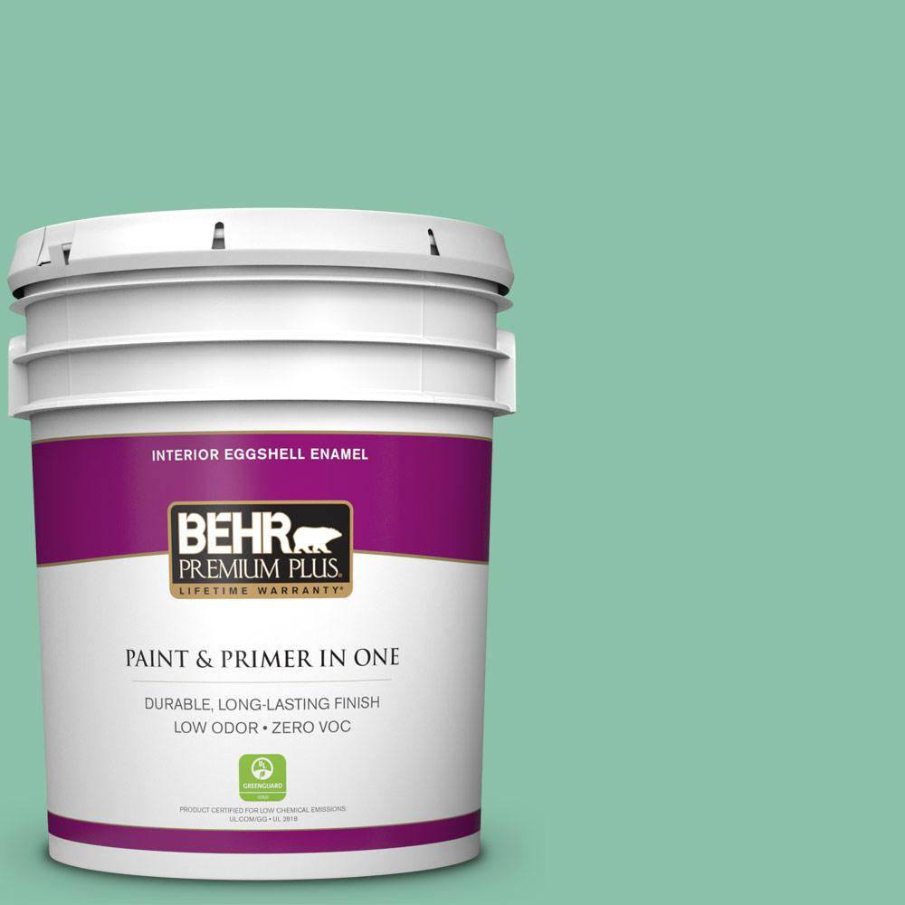 BEHR Premium Plus Home Decorators Collection 5-gal. #HDC-WR14-8 Spearmint Frosting Eggshell Enamel Interior Paint