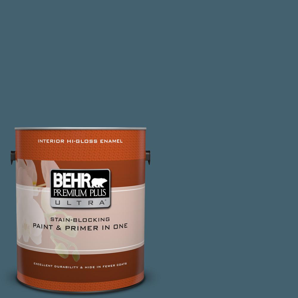1 gal. #BNC-28 Nostalgic Evening Hi-Gloss Enamel Interior Paint