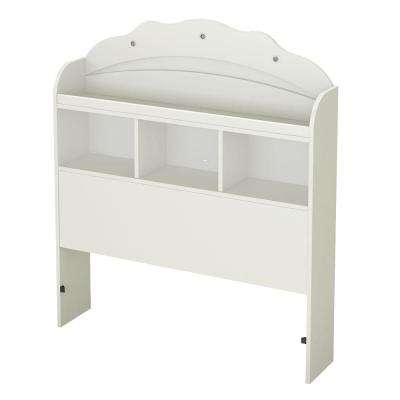 Tiara Pure White Twin Headboard