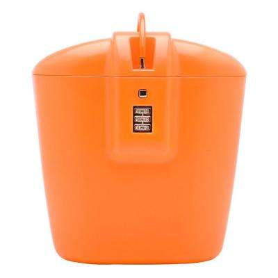 Portable Lightweight Travel Safe with Three Dial Combination Lock, Orange
