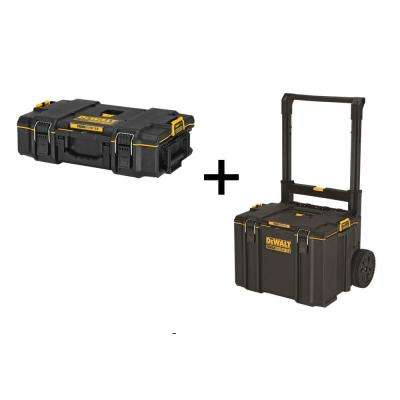 TOUGHSYSTEM 2.0 Small Toolbox with Bonus Mobile Toolbox