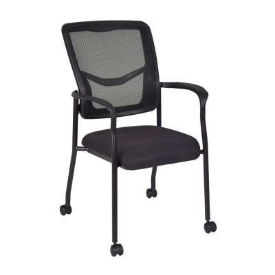 Frock Black Side Chair with Casters