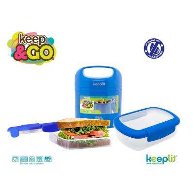 3-Piece Food Storage Container Assorted Pack in Blue