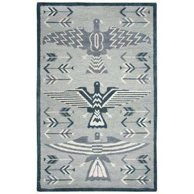 Mesa Gray Multicolor 8 ft. x 11 ft. Rectangle Area Rug