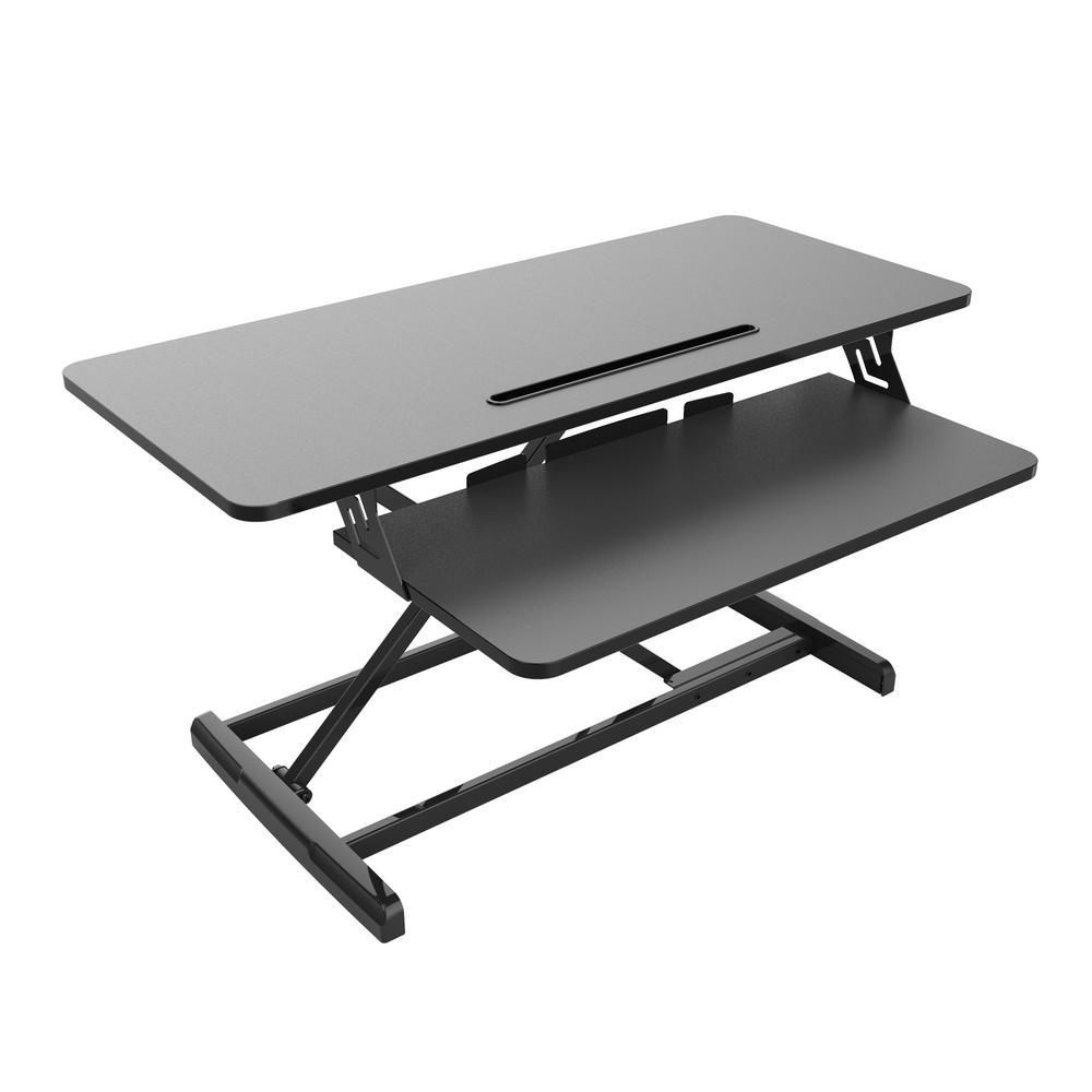 Standing Desk Height Adjustable 32 in. Standing Desk Converter Black