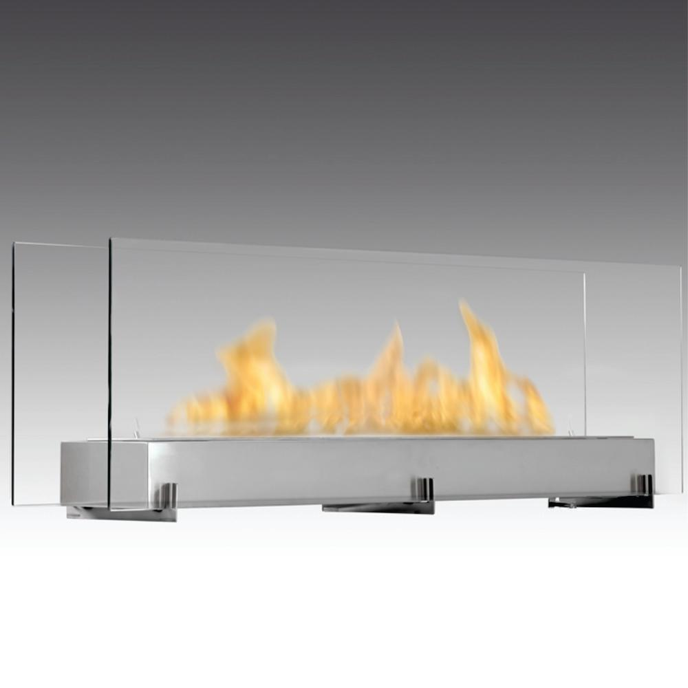 vision iii 51 in ethanol free standing fireplace in stainless