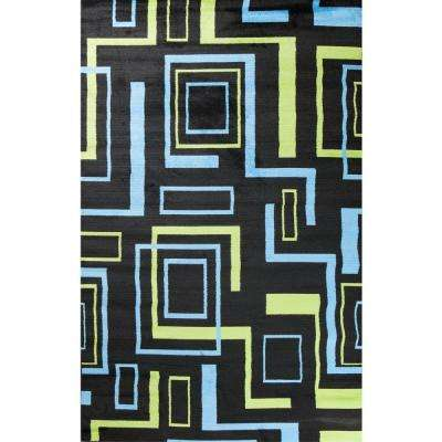 Alisa Boxes Black 5 ft. x 7 ft. Area Rug