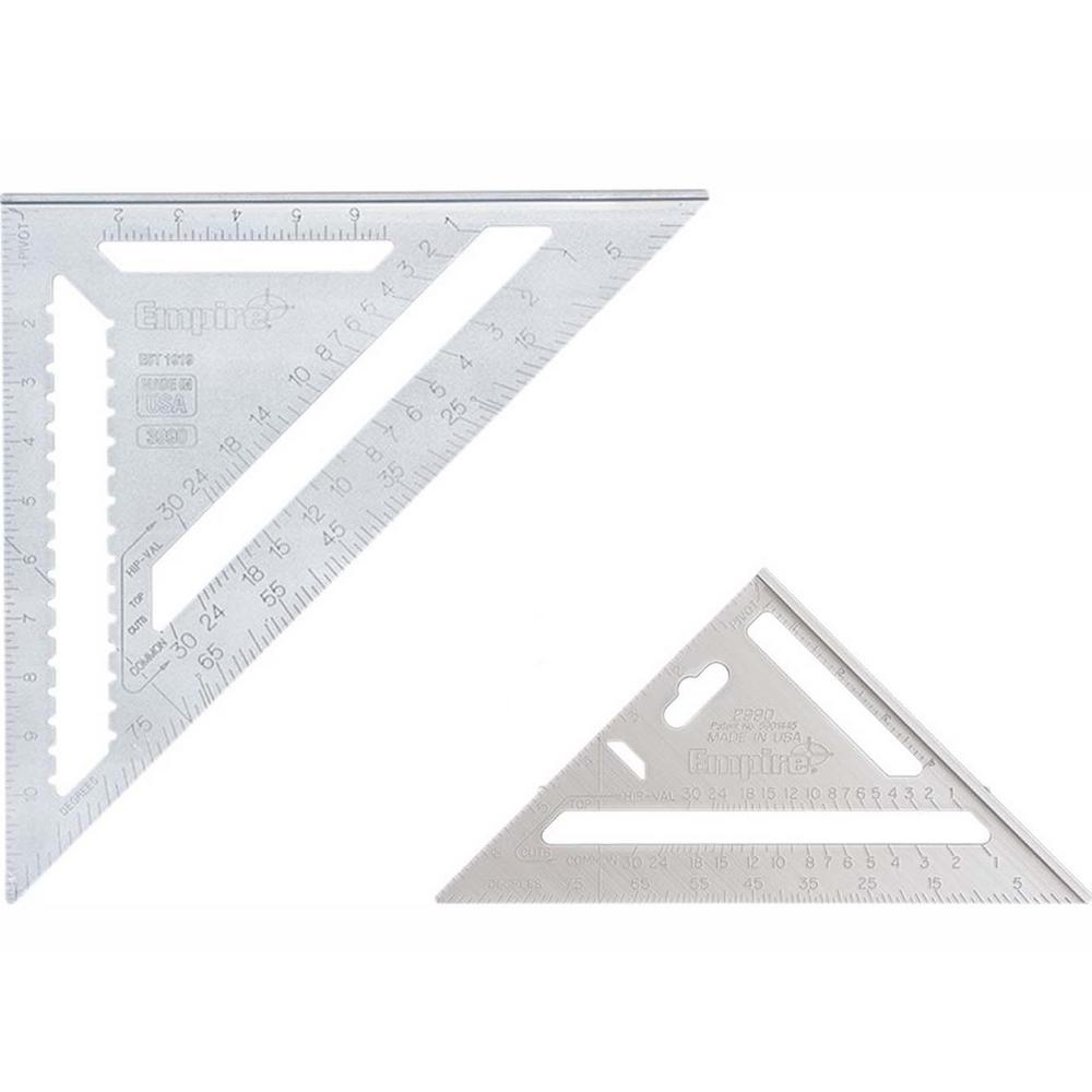 Empire 7 in. and 12 in. Aluminum Rafter Square Set