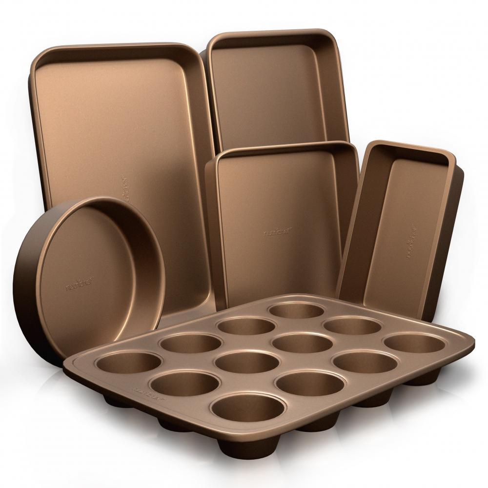 6-Piece Steel Deluxe Non-Stick Baking Sheet Set