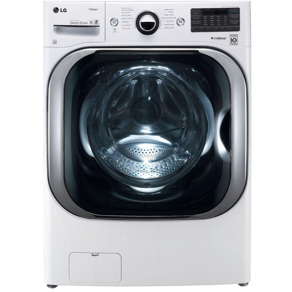 LG Electronics 5.2 cu. ft. High-Efficiency Front Load Washer with Steam and TurboWash in White, ENERGY STAR