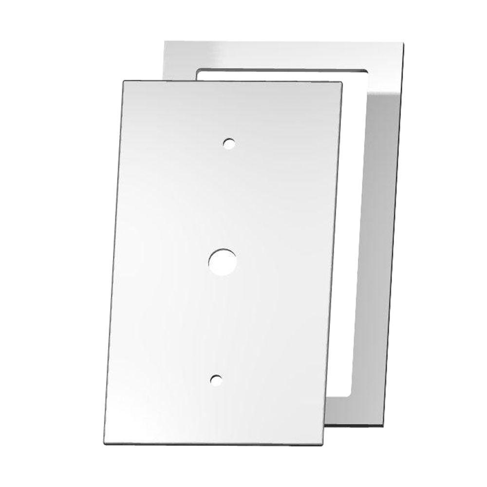 MirrEdge Acrylic Mirror 1 Cable Wall Plate with Clear Acrylic Spacer