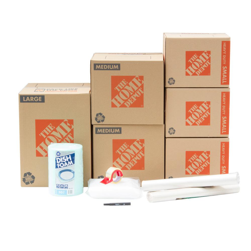 the home depot 6 box dining room moving box kit hddr1 the home depot. Black Bedroom Furniture Sets. Home Design Ideas