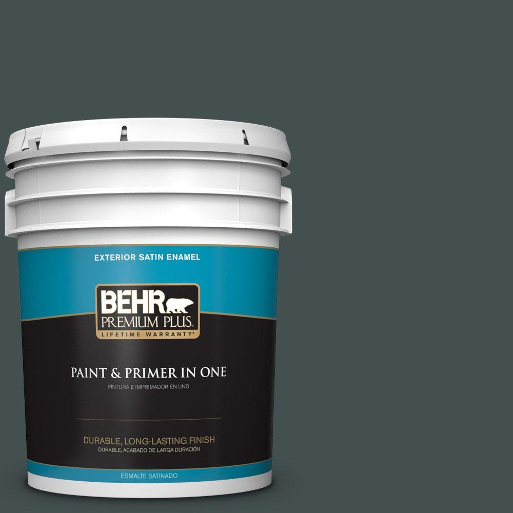 5 gal. #HDC-WR16-05 Evergreen Field Satin Enamel Exterior Paint