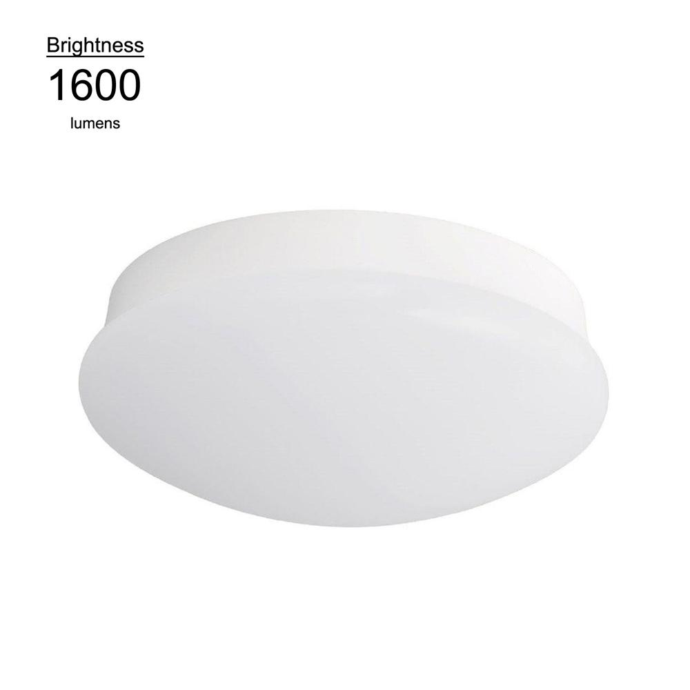 Commercial electric 11 in bright white integrated led flushmount bright white integrated led flushmount ceiling light lampholder replacement fixture aloadofball Gallery