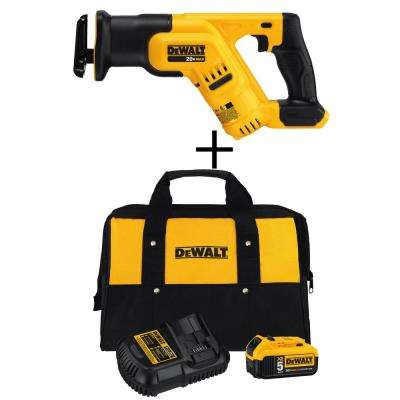 20-Volt MAX Lithium-Ion Cordless Compact Reciprocating Saw (Tool-Only) with Bonus Battery Pack and Charger
