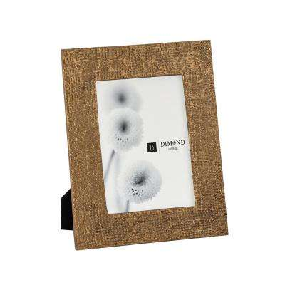 Ripple Texture 1-Opening 5 in. x 7 in. Rose Gold Picture Frame