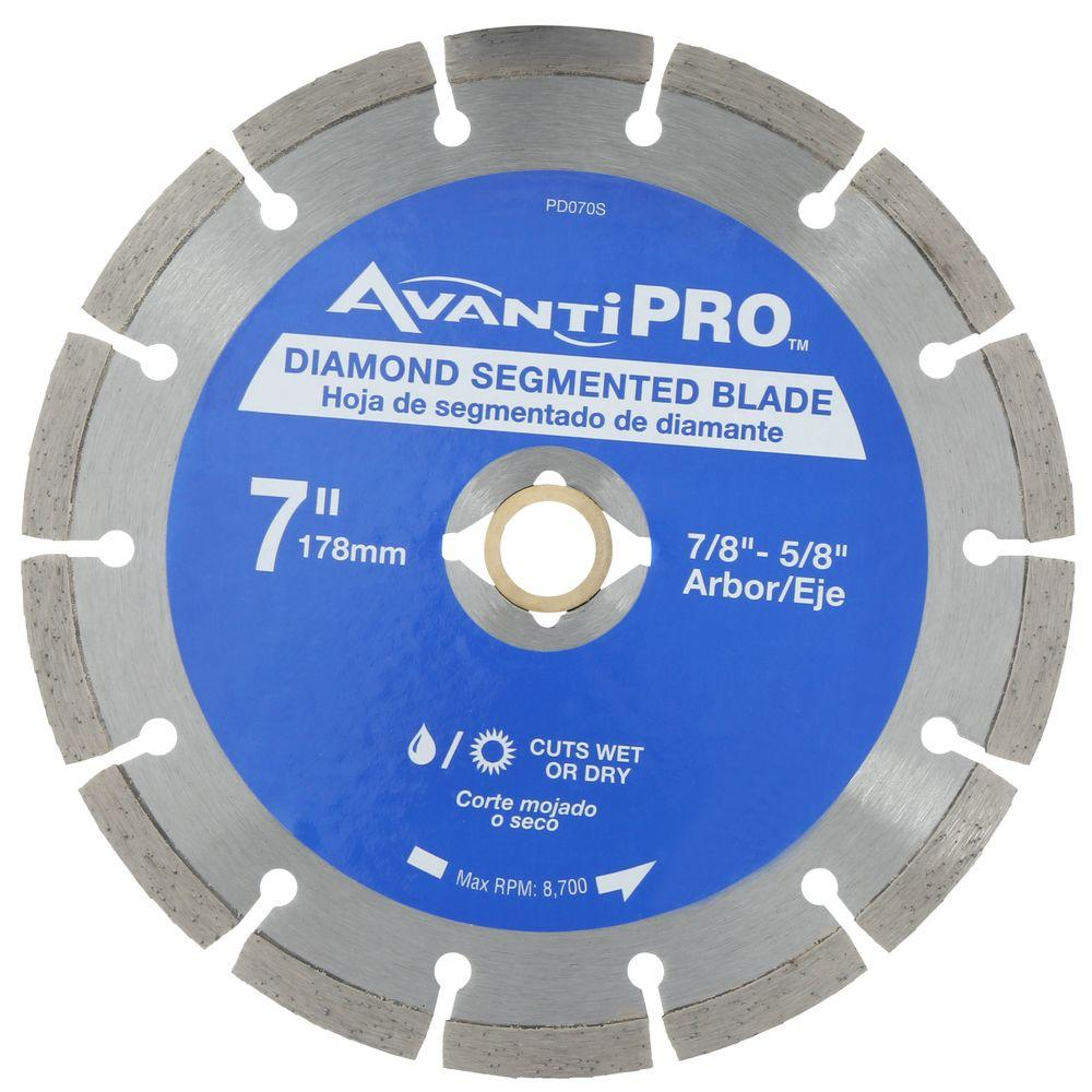 Avanti pro 7 in segmented diamond blade hd s70 the home depot segmented diamond blade keyboard keysfo Image collections
