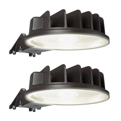 41.5-Watt Outdoor Integrated LED Bronze Dusk to Dawn Area Light with Built-in Photocell Sensor,5400 Lumen,5000K (2-Pack)