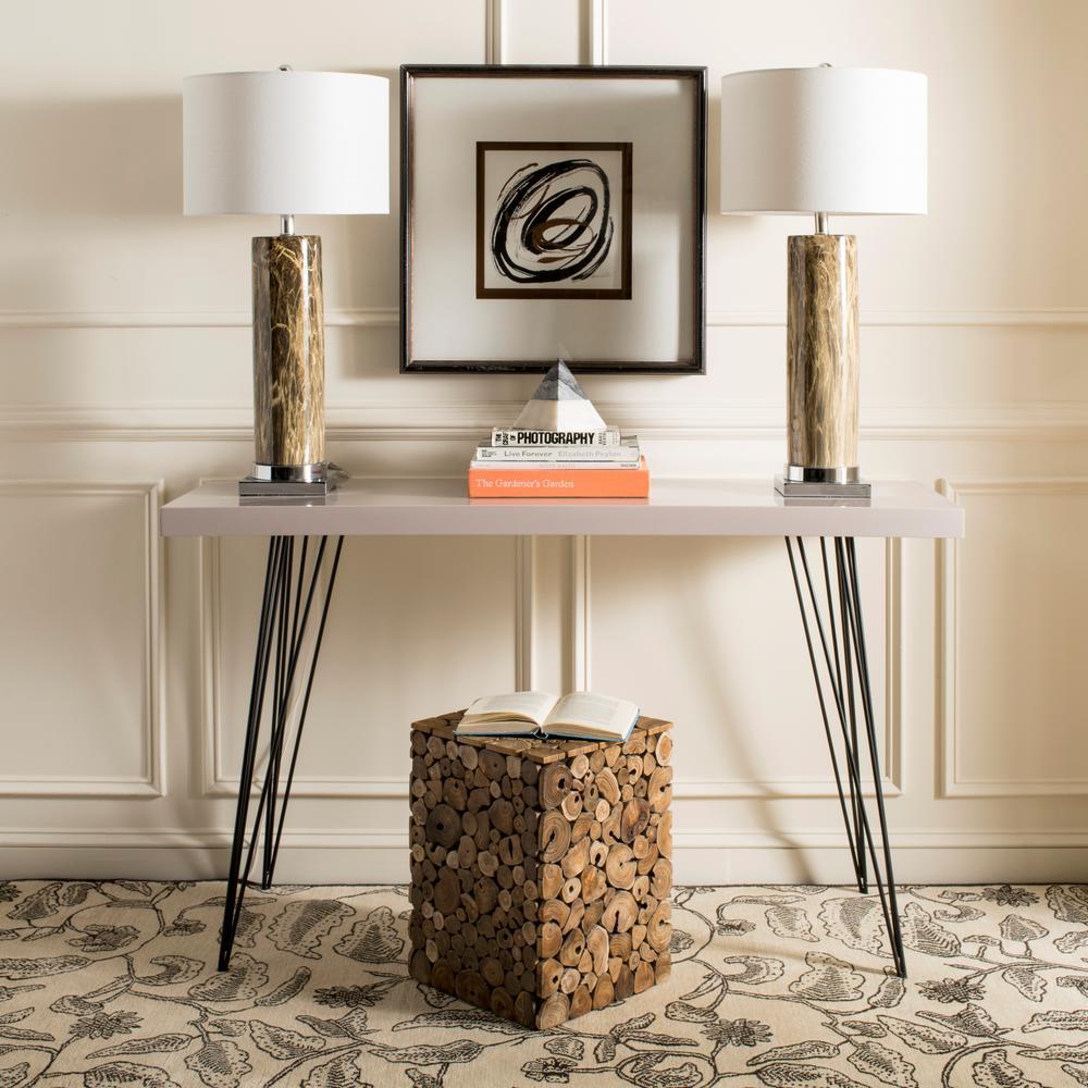 Safavieh Jefferson Medium Oak and Black End Table FOX1004A
