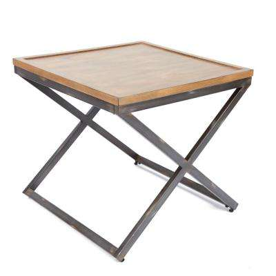 Calhoun Industrial Brown and Gray End Table