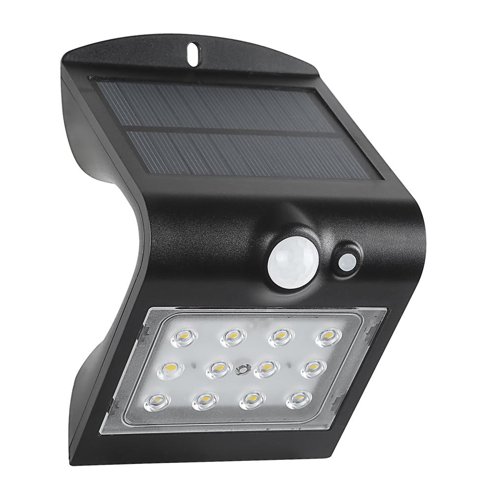 Defiant 120 Degree Solar Motion Activated Outdoor Integrated Led Area Light With Double Lighting Black