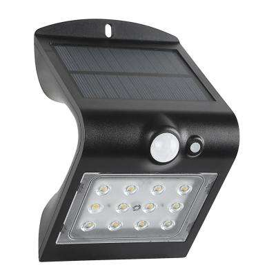 120-Degree Solar Motion Activated Outdoor Integrated LED Area Light with Double Lighting (Black)