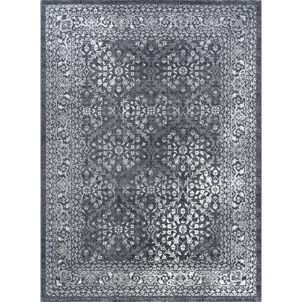 Gray Area Rug 8x11: Tayse Rugs Milan Gray 8 Ft. X 10 Ft. Area Rug-MLN4209 8x11