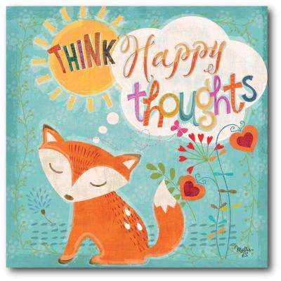 "16 in. x 16 in. ""Happy Thoughts"" Gallery Wrapped Canvas Printed Wall Art"