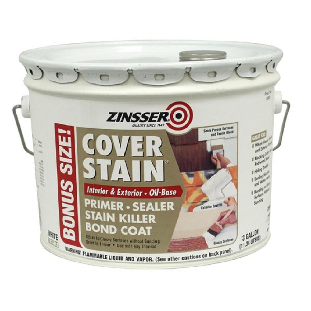 Zinsser 3 gal White OilBased Cover Stain InteriorExterior Primer