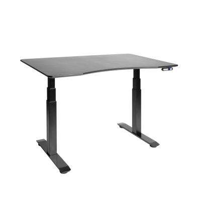 Airlift Black Base with Black Ergo Table Top S3 Electric Height with Adjustable Standing Desk