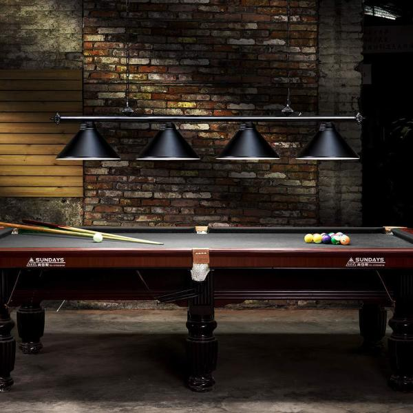 Lights Black Snooker Pool Table
