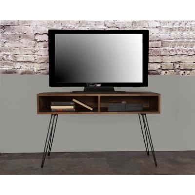 Eastwood 20 in. Natural wood TV Stand Fits TVs Up to 55 in. with Open Storage