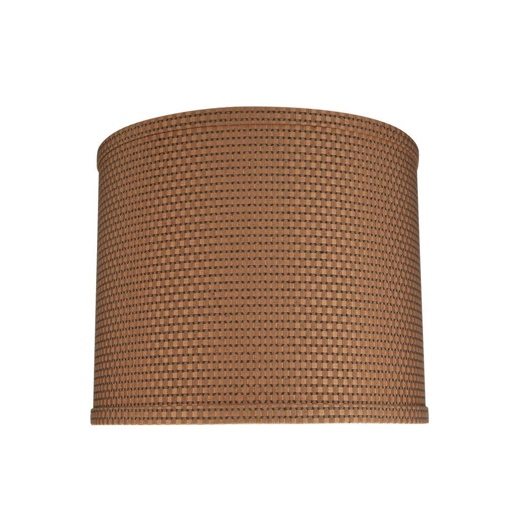 Brown Hardback Drum/Cylinder Lamp Shade