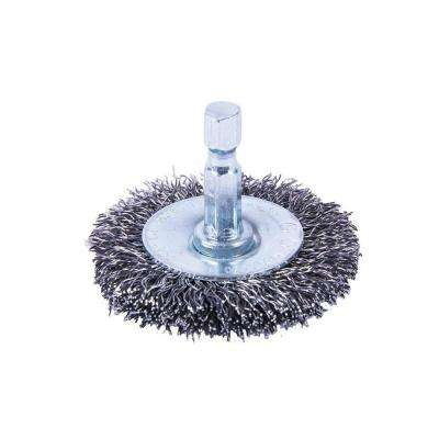 2 in. x 1/4 in. Shank Coarse Crimped Wire Wheel