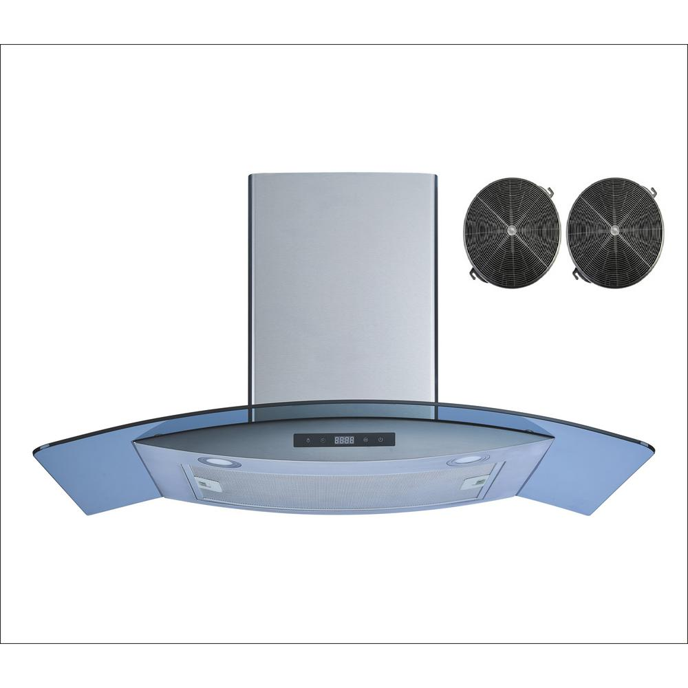 30 in. Wall Mount Convertible Range Hood in Stainless Steel and