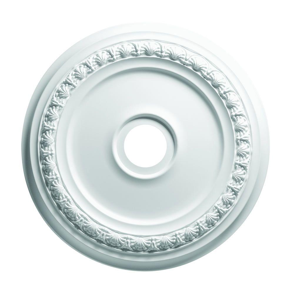 Focal Point 19 in. Shell  and Bellflower Ceiling Medallion